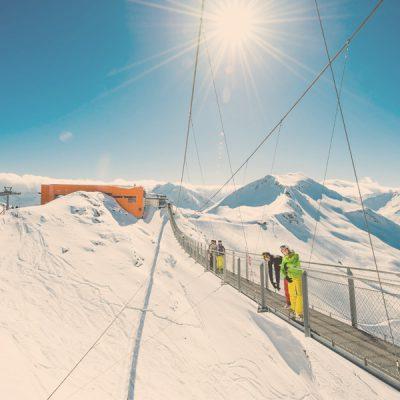 Erkunden Sie die Hängebrücke am Stubnerkogel c Gasteiner Bergbahnen GmbH